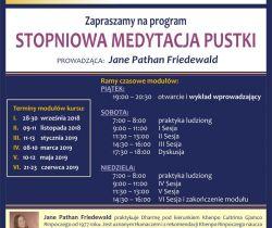 """28-30 września """"Stopniowa medytacja pustki"""" z Jane Pathan Friedewald"""